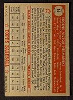1952 Topps #16 Gene Hermanski Chicago Cubs - Red Back