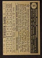 1952 Topps #16 Gene Hermanski Chicago Cubs - Black Back