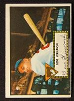 1952 Topps #16 Gene Hermanski Chicago Cubs - Front