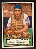 1952 Topps #17 Jim Hegan Cleveland Indians - Front