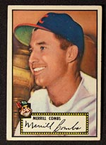 1952 Topps #18 Merrill Combs Cleveland Indians - Front