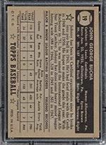 1952 Topps #19 Johnny Bucha St. Louis Cardinals - Black Back