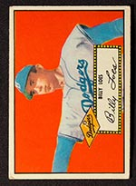 1952 Topps #20 Billy Loes Brooklyn Dodgers - Front