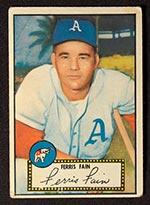 1952 Topps #21 Ferris Fain Philadelphia Athletics - Front