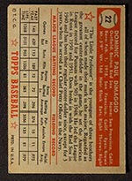 1952 Topps #22 Dom DiMaggio Boston Red Sox - Red Back