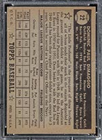 1952 Topps #22 Dom DiMaggio Boston Red Sox - Black Back