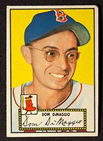 1952 Topps #22 Dom DiMaggio Boston Red Sox - Front