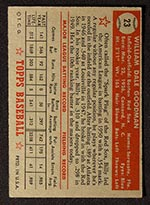1952 Topps #23 Billy Goodman Boston Red Sox - Red Back
