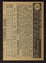 1952 Topps #23 Billy Goodman Boston Red Sox - Black Back