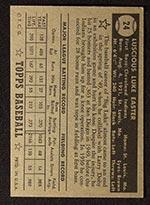 1952 Topps #24 Luke Easter Cleveland Indians - Black Back