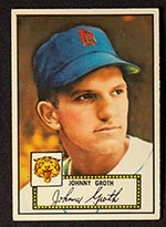 1952 Topps #25 Johnny Groth Detroit Tigers - Front