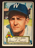 1952 Topps #2 James E. Runnels Washington Senators - Front
