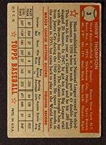1952 Topps #3 Hank Thompson New York Giants - Red Back
