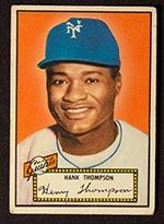 1952 Topps #3 Hank Thompson New York Giants - Front