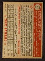 1952 Topps #4 Don Lenhardt Boston Red Sox - Red Back