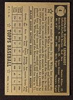 1952 Topps #4 Don Lenhardt Boston Red Sox - Black Back