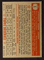 1952 Topps #5 Larry Jansen New York Giants - Red Back