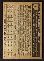 1952 Topps #6 Grady Hatton Cincinnati Reds - Black Back