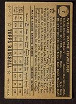 1952 Topps #7 Wayne Terwilliger Brooklyn Dodgers - Black Back