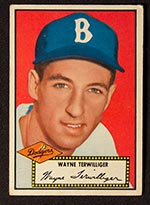 1952 Topps #7 Wayne Terwilliger Brooklyn Dodgers - Front