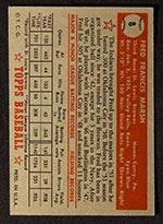 1952 Topps #8 Fred Marsh St. Louis Browns - Red Back