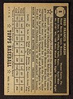 1952 Topps #8 Fred Marsh St. Louis Browns - Black Back