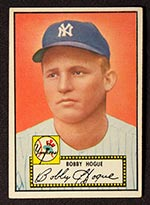 1952 Topps #9 Bobby Hogue New York Yankees - Front