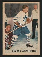 1953-1954 Parkhurst #11 George Armstrong Toronto Maple Leafs - Front