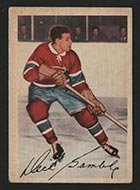 1953-1954 Parkhurst #18 Dick Gamble Montreal Canadiens - Front