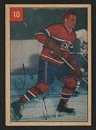 1954-1955 Parkhurst #10 Tom Johnson Montreal Canadiens - Front