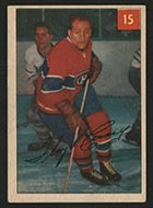 """1954-1955 Parkhurst #15 Floyd """"Busher"""" Curry (Lucky Premium) Montreal Canadiens - Front"""