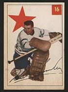 1954-1955 Parkhurst #16 Harry Lumley Toronto Maple Leafs - Front