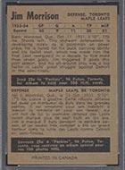 1954-1955 Parkhurst #18 Jim Morrison Toronto Maple Leafs - Back