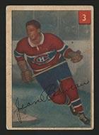 1954-1955 Parkhurst #3 Jean Beliveau Montreal Canadiens - Front