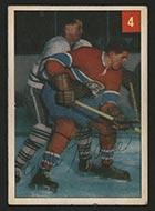 1954-1955 Parkhurst #4 Eddie Mazur Montreal Canadiens - Front