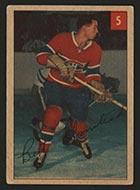 1954-1955 Parkhurst #5 Bert Olmstead (Lucky Premium) Montreal Canadiens - Front