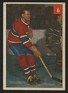 1954-1955 Parkhurst #6 Butch Bouchard Montreal Canadiens - Front