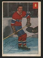 1954-1955 Parkhurst #8 Bernie Geoffrion Montreal Canadiens - Front