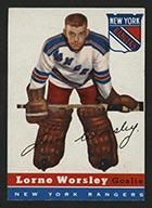 1954-1955 Topps #10 Lorne Worsley New York Rangers - Front