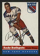 1954-1955 Topps #11 Andy Bathgate New York Rangers - Front