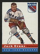 1954-1955 Topps #14 Jack Evans New York Rangers - Front