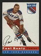 1954-1955 Topps #15 Paul Ronty New York Rangers - Front