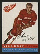 1954-1955 Topps #16 Glen Skov Detroit Red Wings - Front
