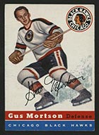 1954-1955 Topps #17 Gus Mortson Chicago Black Hawks - Front