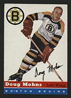 1954-1955 Topps #18 Doug Mohns Boston Bruins - Front