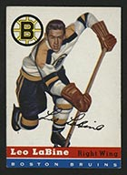1954-1955 Topps #19 Leo LaBine Boston Bruins - Front