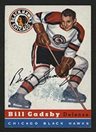 1954-1955 Topps #20 Bill Gadsby Chicago Black Hawks - Front