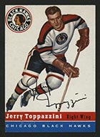 1954-1955 Topps #21 Jerry Toppazzini Chicago Black Hawks - Front
