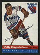 1954-1955 Topps #22 Wally Hergesheimer New York Rangers - Front