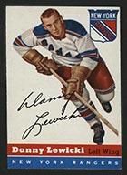 1954-1955 Topps #23 Danny Lewicki New York Rangers - Front